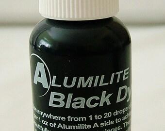 Black alumilite liquid colorant - resin jewelry making