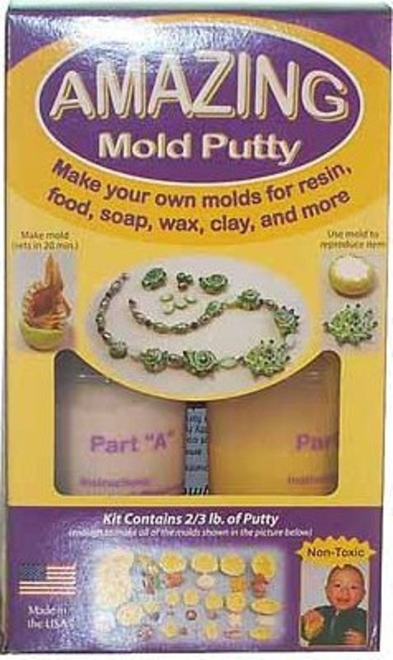 Make your own silicone molds with amazing mold putty -- great for resin jewelry making - food safe too