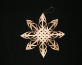 9 inch Carolina Snowflake - black ash