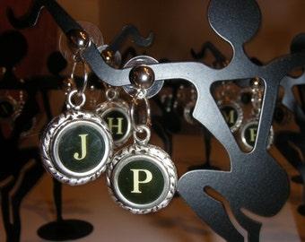 Handcrafted Vintage Typewriter Key Earrings