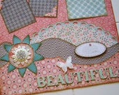 NEW Beautiful - Premade 12x12 two page layout - ScrapArt
