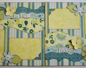 In Full Bloom - Premade 12x12 two page layout - ScrapArt
