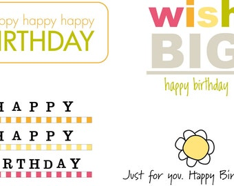 Birthday Bag - Labels Only