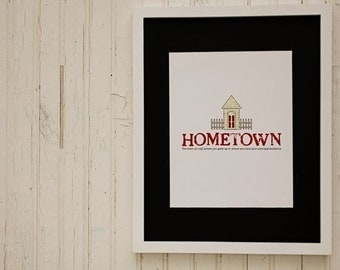 Custom Hometown Definition Print
