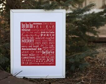 Christmas Word Print