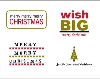 Christmas Gift Bag Labels