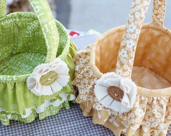 Ruffle Easter Basket - Download Pattern