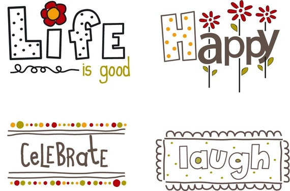 Happy Words Little Labels