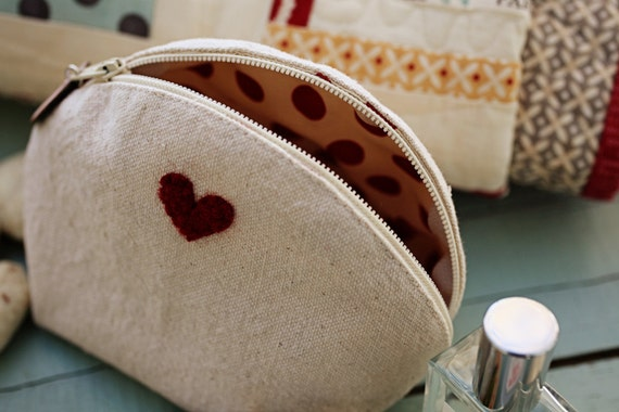 Valentine Zippered Pouch- Download  Pattern