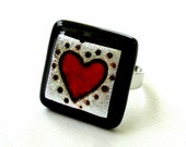 Sweetheart Fused Glass Ring