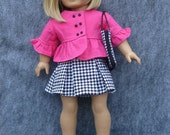 Hot Pink and Houndstooth Suit Set for American Girl