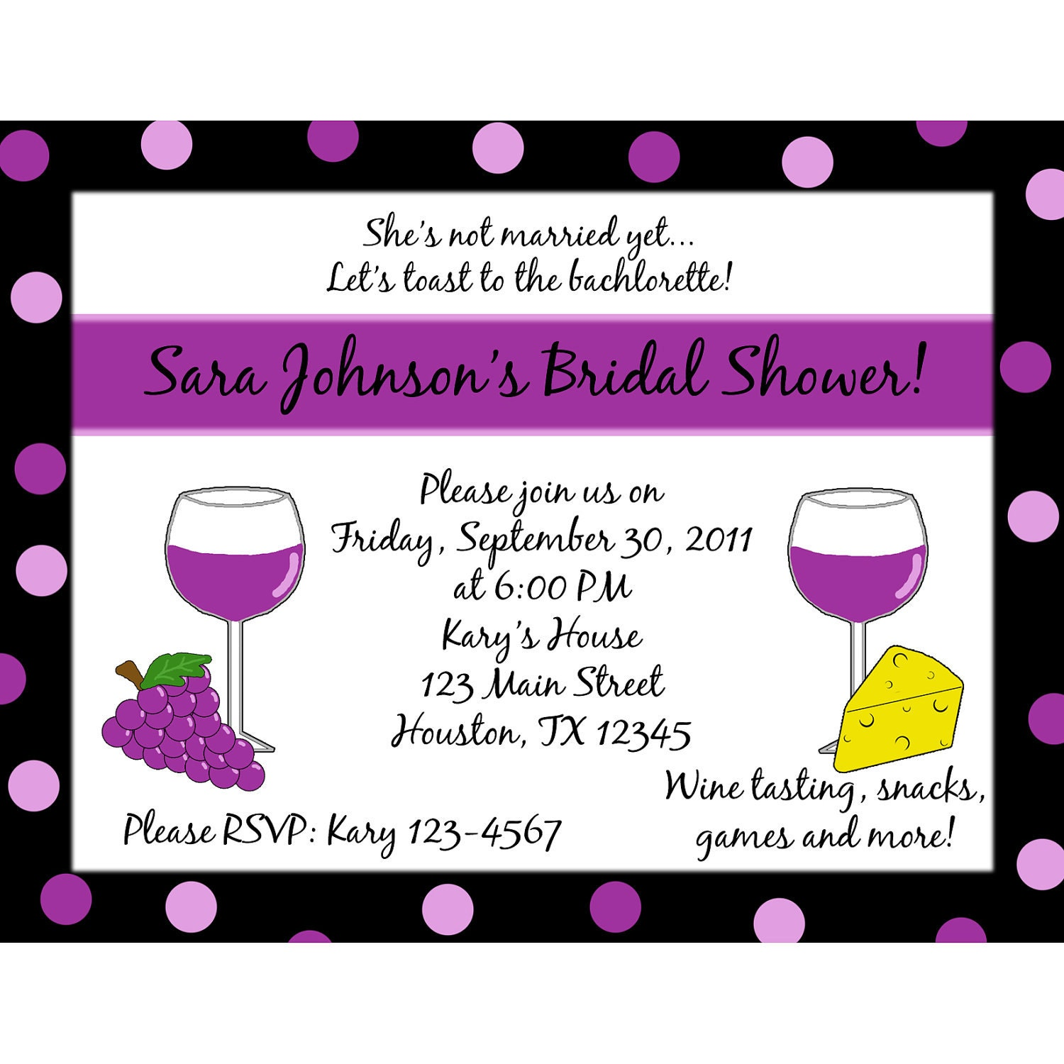 12 Personalized Bridal Shower/Bachelorette by magicalcreations