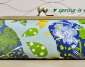 Bridesmaid's clutch - Spring is here clutch (Birds and leaves design)