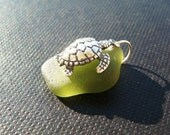 Turtle Sea Glass Pendant
