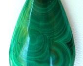 Malachite Cabochon Swirling Greens