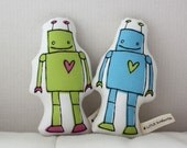 Robot - MINI Plush - softie - toy - doll - baby - kids - valentine's day - baby gift - valentine - love