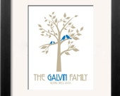 Family Tree Personalized Art Print - 11x14