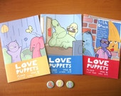 Love Puppets 3-pack with badges