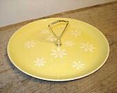 Vintage Harkerware Yellow Daisy Serving Tray    j