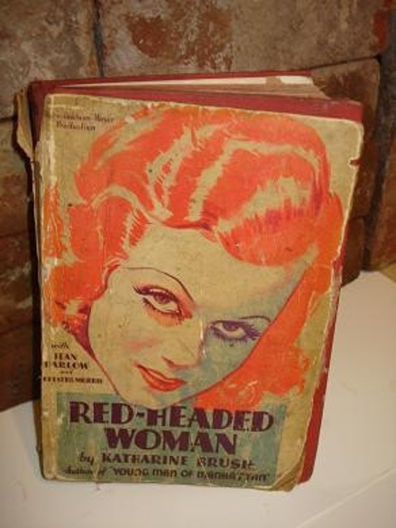 Vintage Red - Headed Woman Book by Katharine Brush Copyright 1931 b