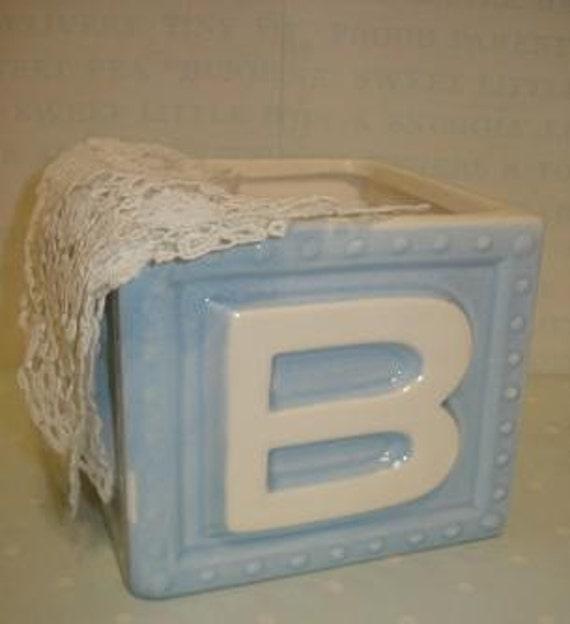 Vintage Haeger Ceramic Baby Block Planter B