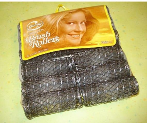 Vintage Goody Brush Hair Rollers