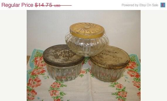 on sale vintage kerr jelly glass jars j. Black Bedroom Furniture Sets. Home Design Ideas