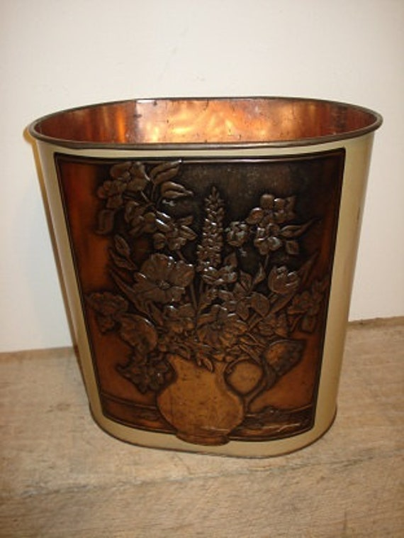 Vintage Weibro Corp Metal Trash Can     j