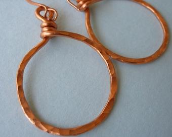 Copper Moon Hoop Earrings
