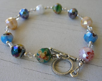 Flower Glass Bracelet