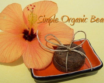 Vegan African Black Soap with African Shea Butter hand melted in Samples