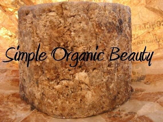 2 Samples Bars RAW Organic African Black Soap