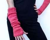 made-to-order, U pick color, long slouchy arm warmers w/ thumbholes