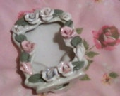 Vintage Porcelain Photo Frame - Very Shabby Chic