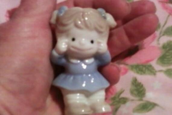 Sweet Little Girl Vintage Figurine