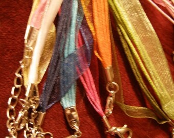 NeCK CORDS 10 filmy ribbon and silky cord adjustable neckbands in mixed colors   paganteam, Team ESST, olyteam, WWWG