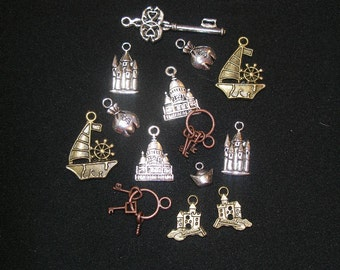 Castles, boats, keys, money charms (14) Game of Thrones, other medieval themes   - TeamESST, TeamBJD,OlympiaEtsy, paganteam, WWWG