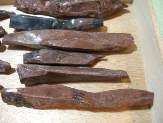 ALMoST GoNE AGAiN  Obsidian volcanic dragon glass needles( 4) - all natural  Game of Thrones   TeamESST,  paganteam, TeamBJD