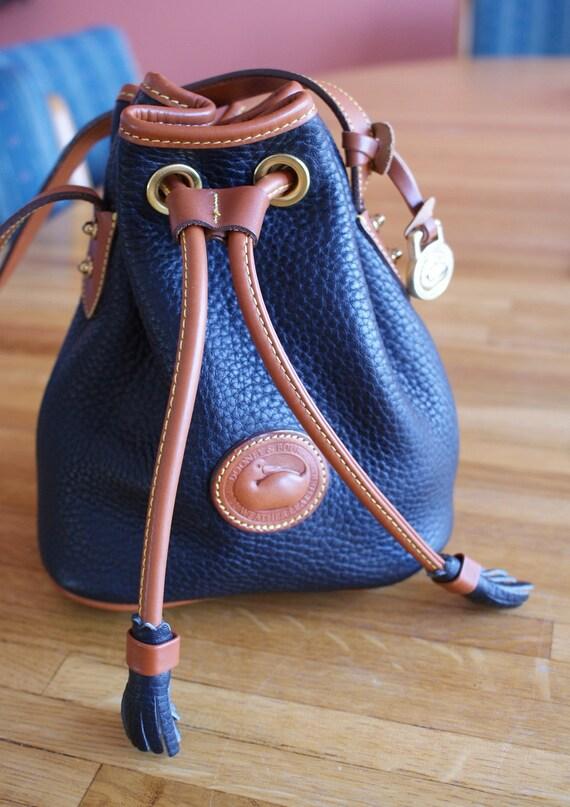 Black and Brown DOONEY and BOURKE Mini Bucket Bag