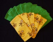 Flannel All Purpose Wipes - Monkey\/Green