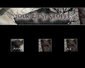 Cemetery Owls Etsy Banner and 3 Avatars