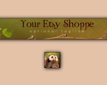 Well, Hello Owl Etsy Banner and Avatar Set
