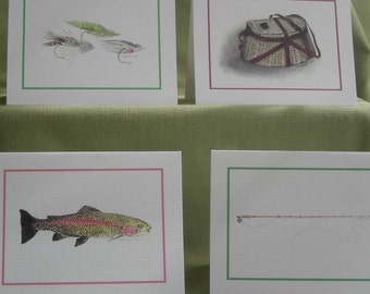 Fly Fishing Note Card Set