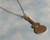 The Girlie Guitar Necklace - hand cut sterling