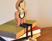 RESV Katherine Vintage circus figurine made of wood Ladies and Gentlemen - vintage shelf sitting circus ringmaster dapper guy