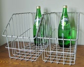 Vintage wire bin basket - perfect for a pantry magazines newspapers a potting shed, etc - LAST ONE