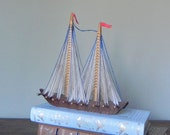 Sailing ship model - beach house cottage ocean by the sea bungalow beaches