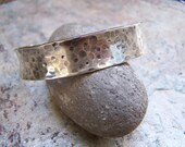 Hammered Hand Forged Anti Clastic Sterling Silver Cuff