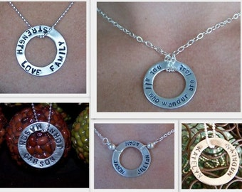 Donut stamped pendant