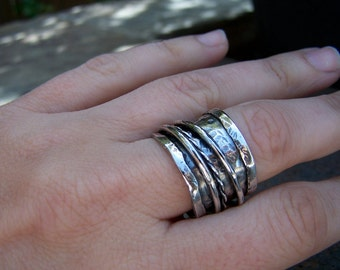 Made to Order Sterling Silver Triple Spinner Ring